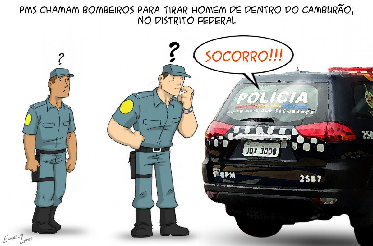 Charge publicada na edição impressa do Jornal de Brasília, do dia 31 de julho de 2019