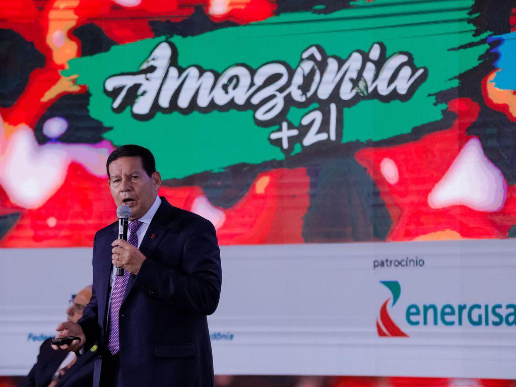 Vice-Presidente da República, Hamilton Mourão no Fórum Mundial Amazônia +21 - Visão de Futuro, Oportunidades e Desafios para a Região Amazônica.