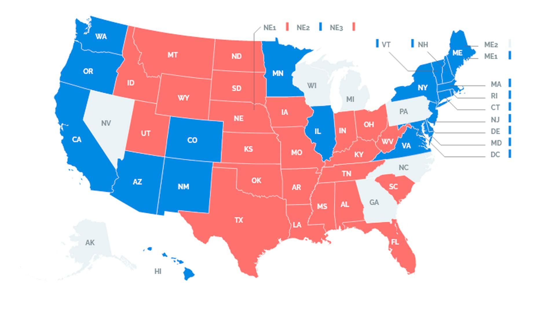 Acompanhe a apuração das eleições dos Estados Unidos em tempo real