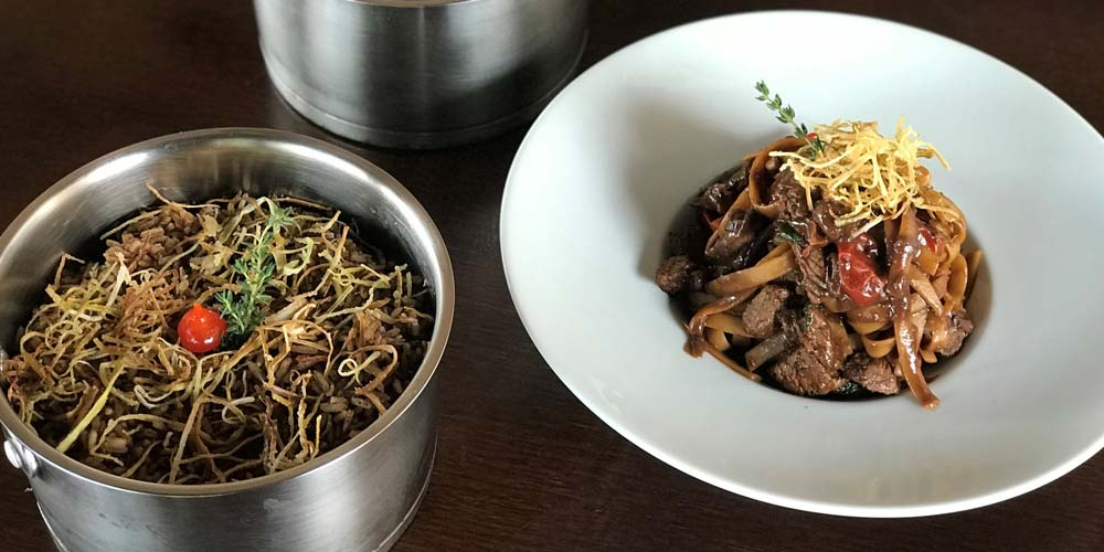 Fettuccine e arroz de alho negro. Foto; Blend Boucherie