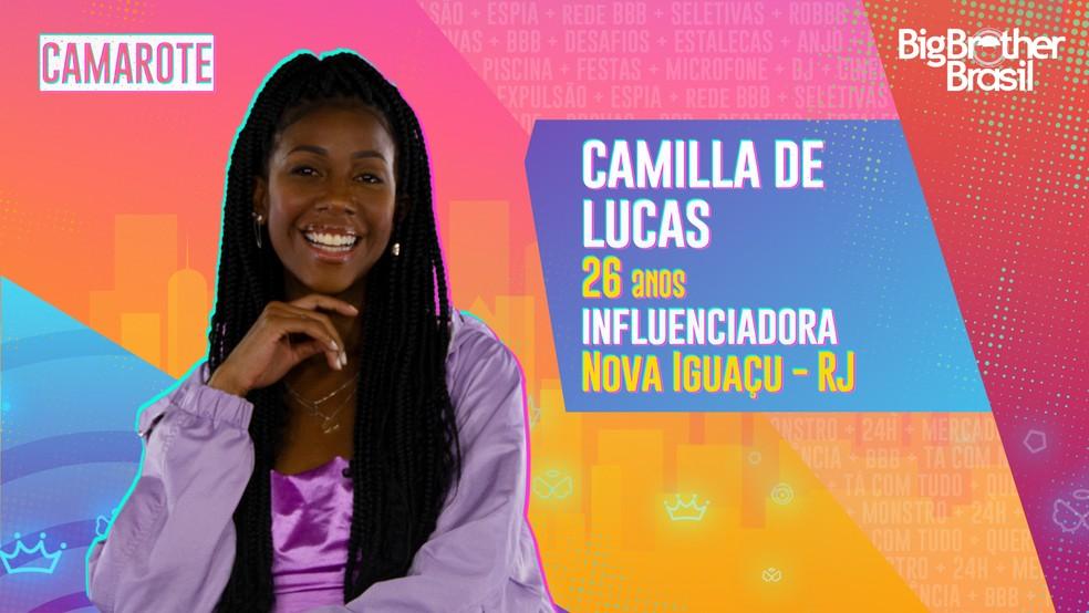 Camilla de Lucas. Reprodução/TV Globo