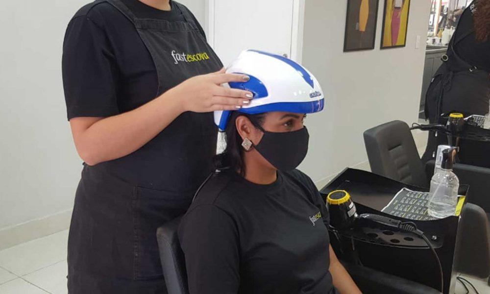 Ledterapia é a mais nova tecnologia para tratamento capilar. Foto: Divulgação