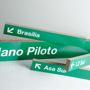 Plaquinhas de Brasília