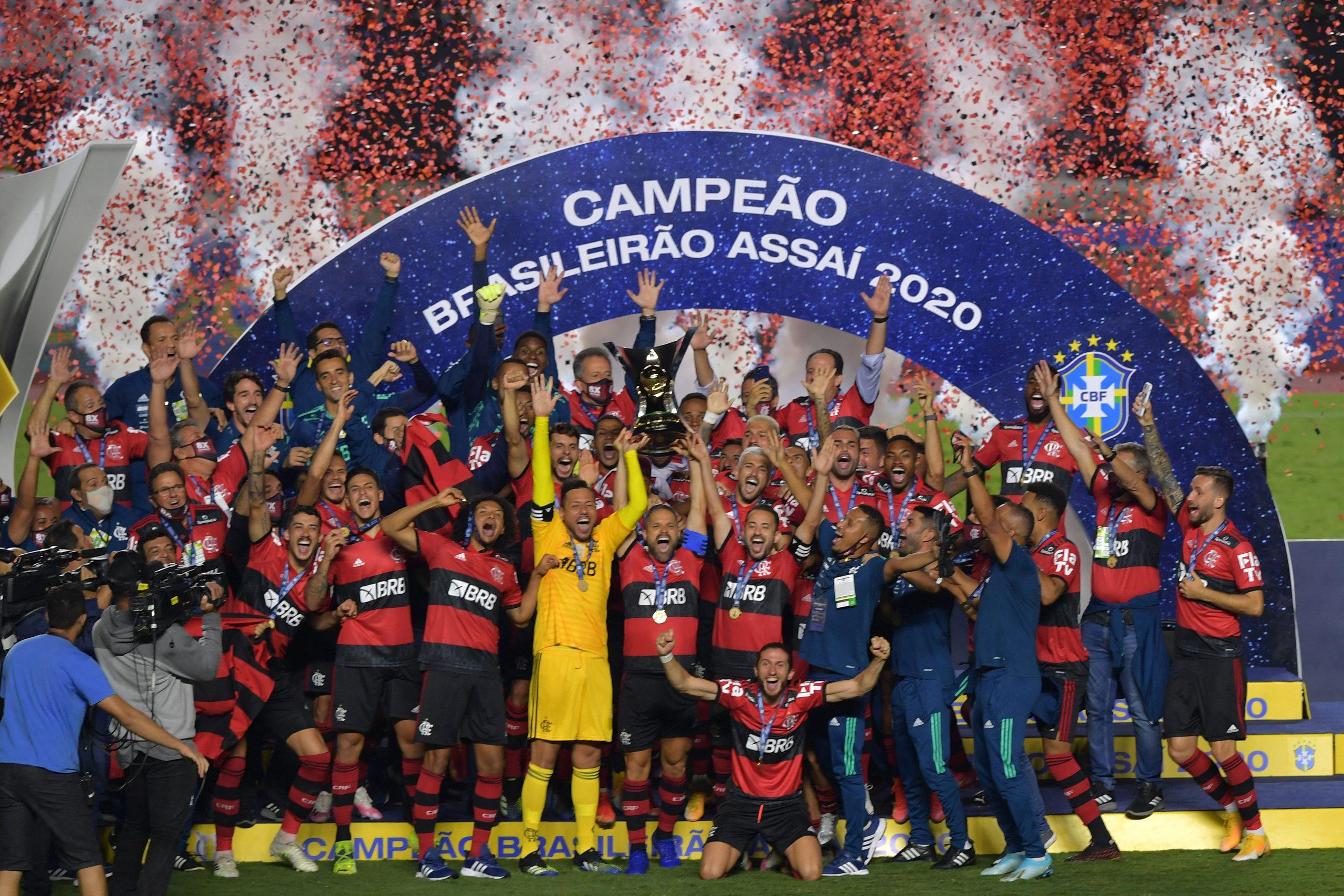 Flamengo, campeão brasileiro 2020. Foto: Nelson Almeida/APF