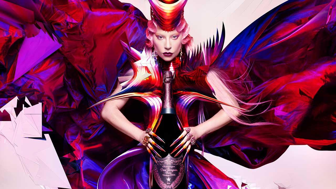 Cantora Lady Gaga e Dom Pérignon fecham parceria inspiradora