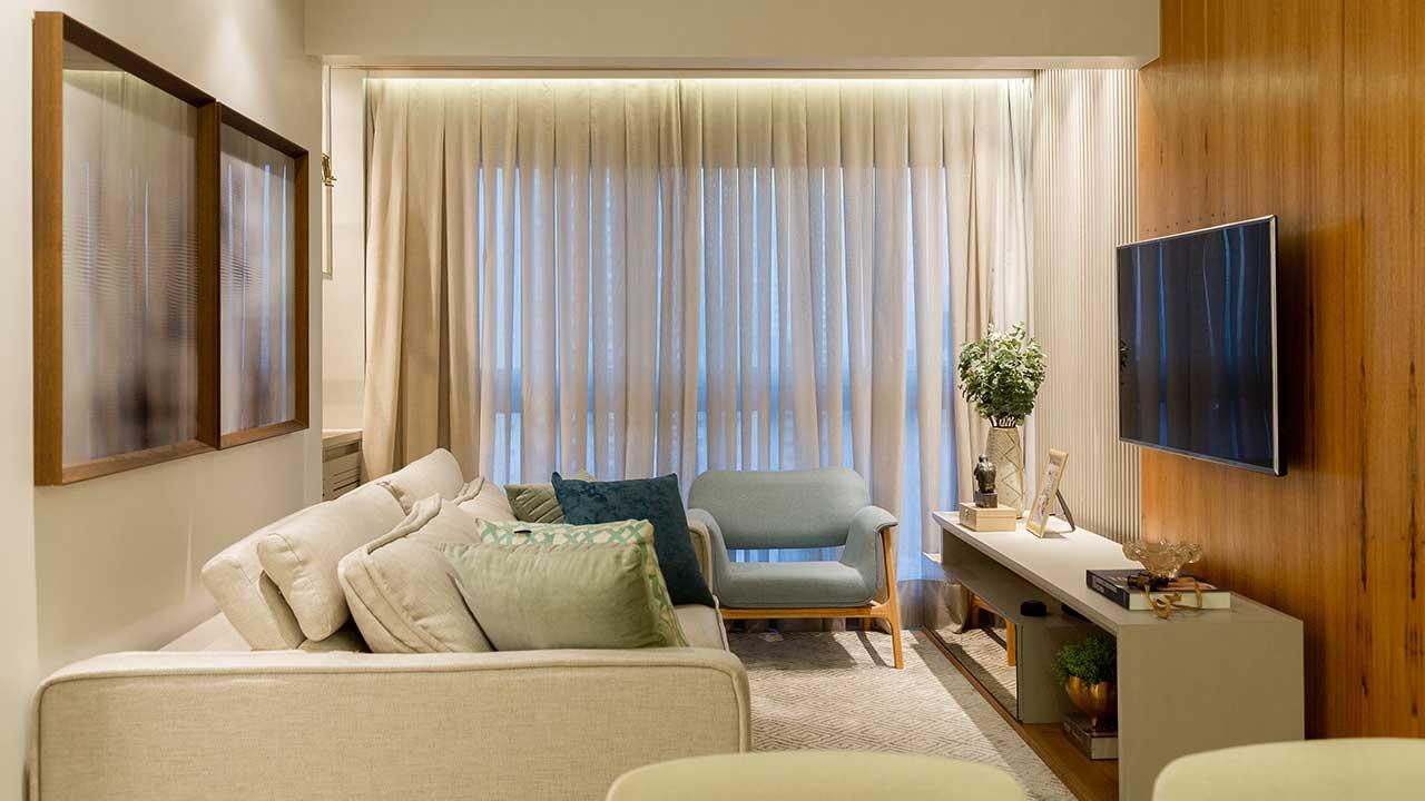Projeto lindo de um apartamento de 70m2