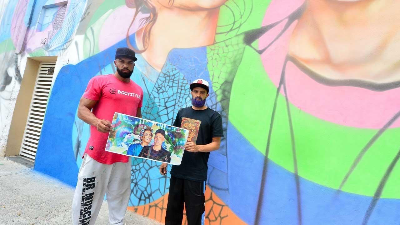 Paulo Terra e Paulo Gustavo. Foto: Francisco Cepeda / AgNews