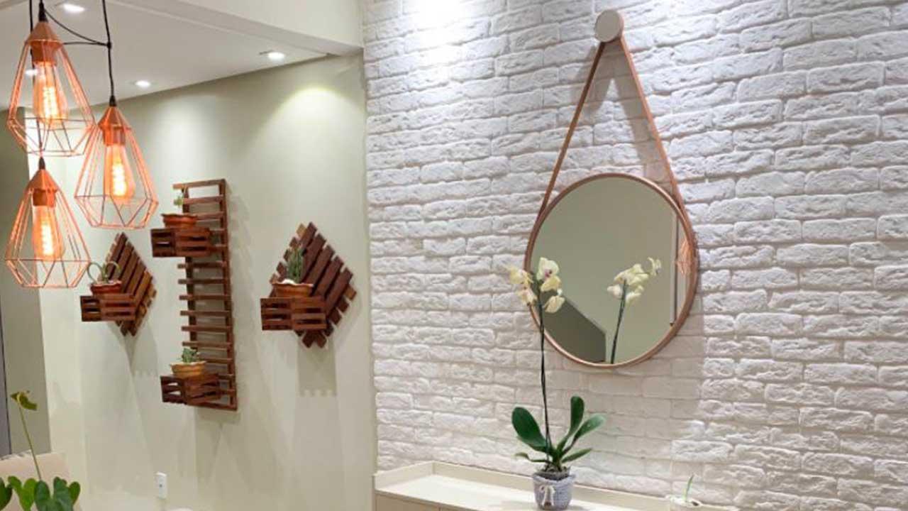 Dica do dia: Mudando o ambiente com parede de tijolinhos
