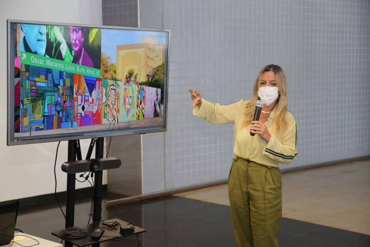 Vanessa Mendonça (Setur-DF): ícones da criatividade em Brasília vão ganhar painéis na 507 Sul. Foto: Aurélio Pereira / Setur-DF