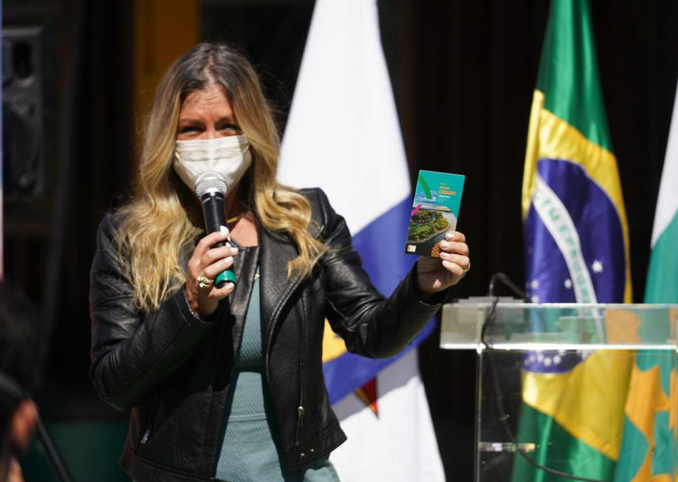 Secretária do Turismo do DF, Vanessa Mendonça, durante o Turismo em Ação do Paranoá. Foto: Renato Braga/Setur-DF