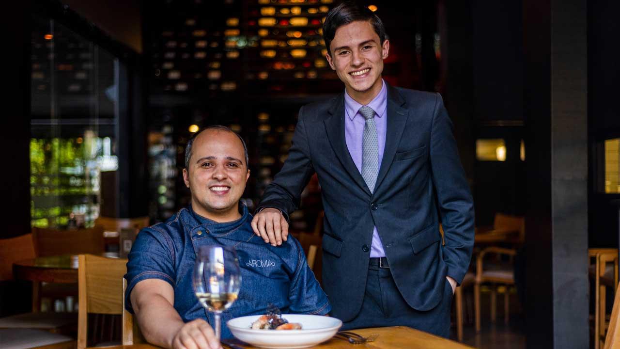 Chef Ronny Peterson e o filho Kevin Oliveira. Foto: Fernando Pires