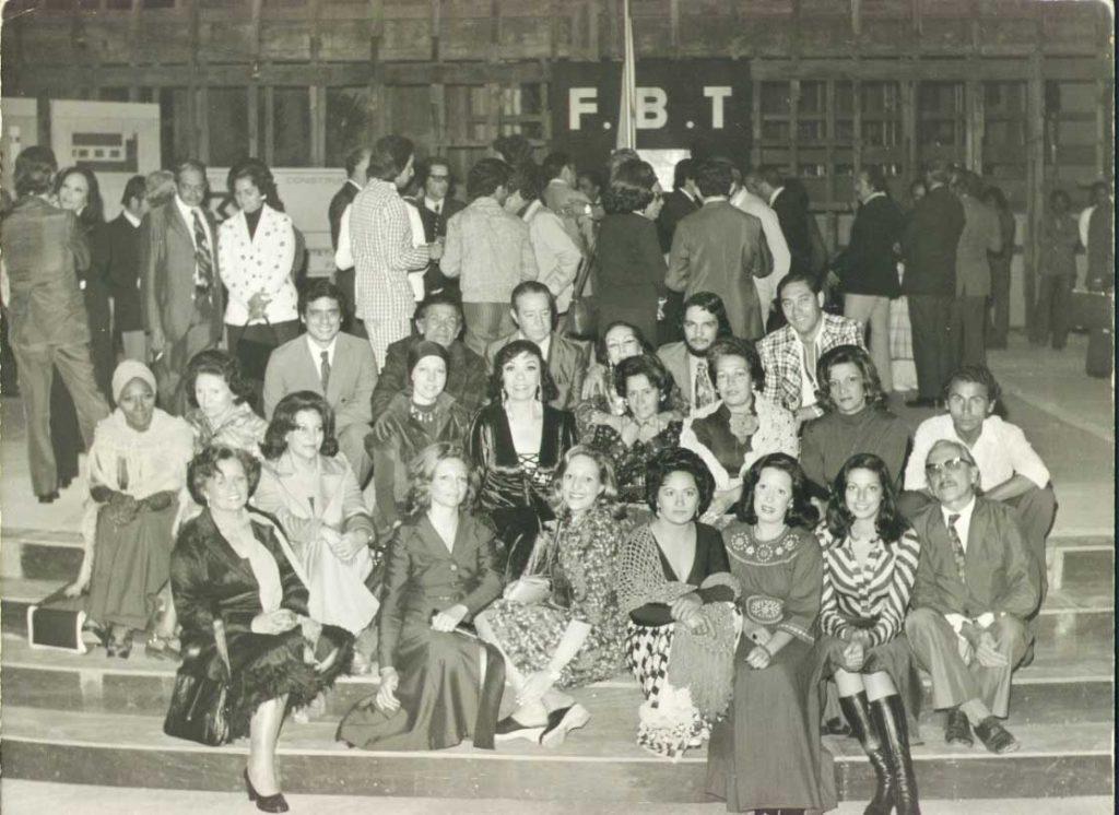 Alunos da faculdade Dulcina de Moraes. Foto: Acervo Fundação Brasileira de Teatro