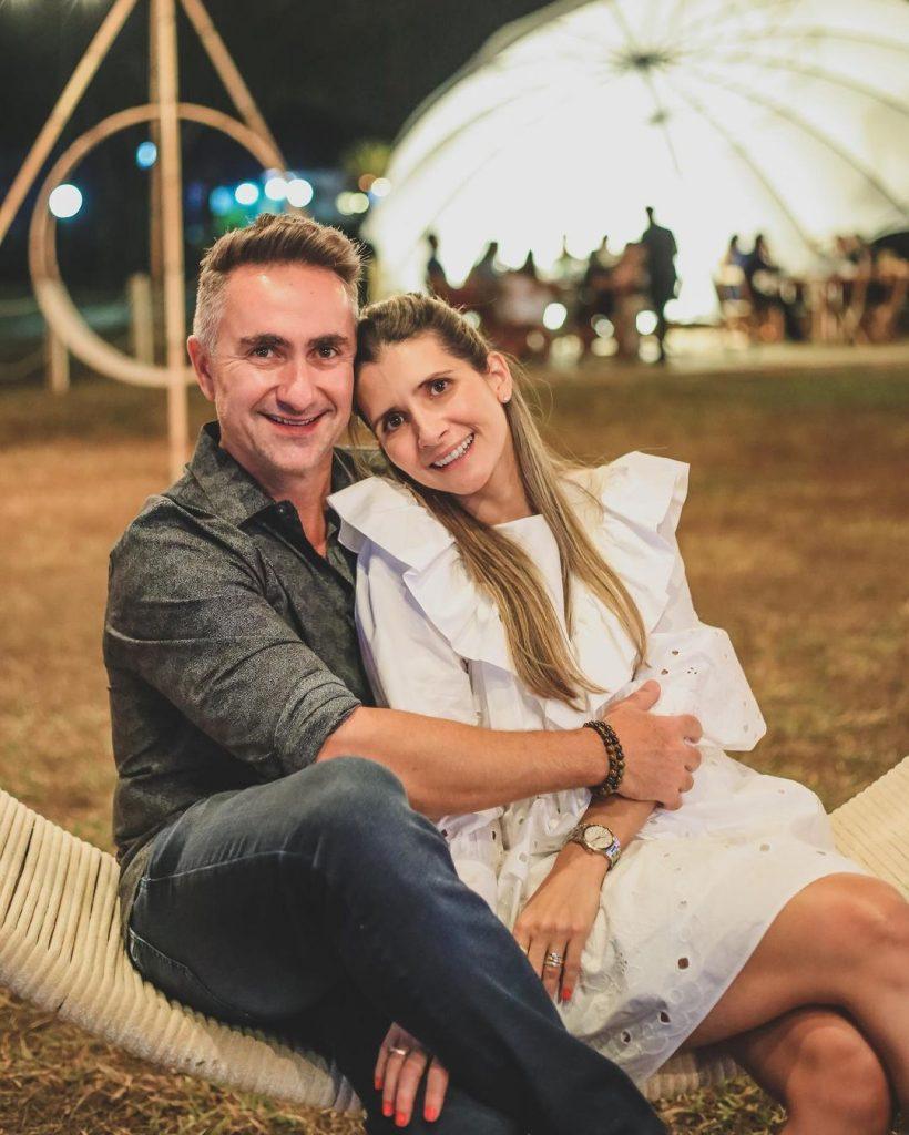 Rodrigo Gerhard e sua esposa. Foto: Arquivo Pessoal