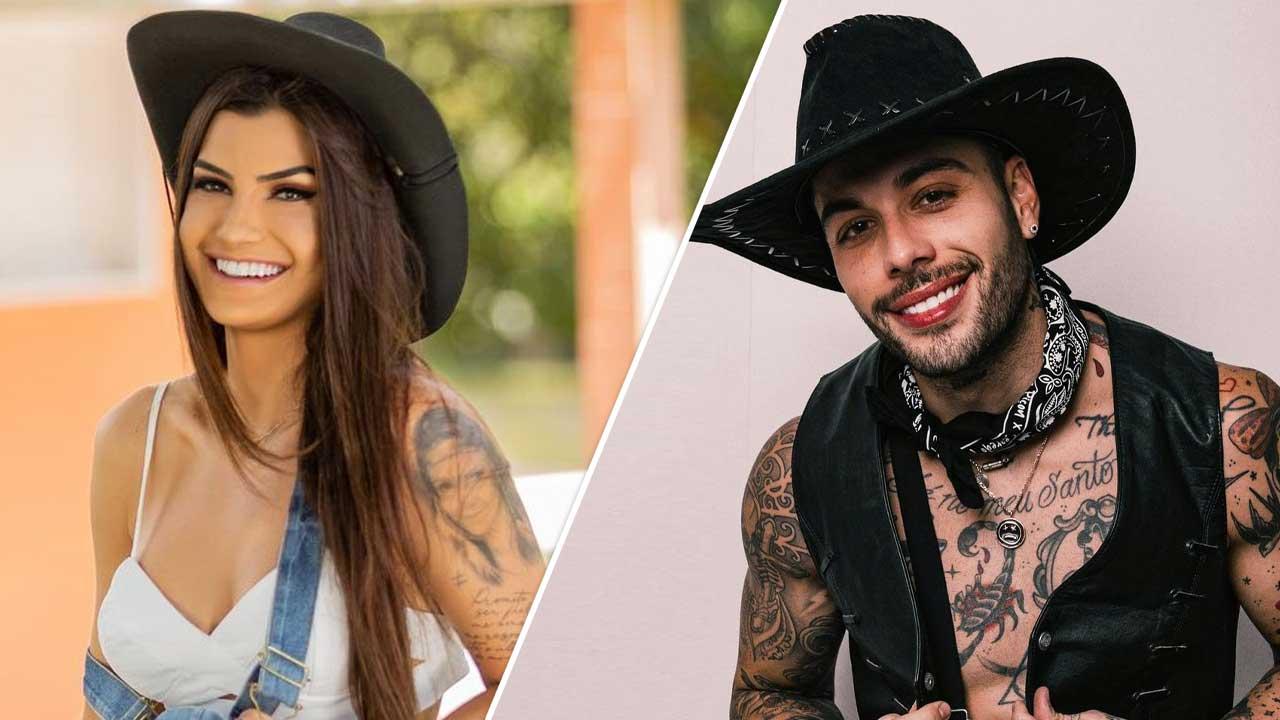 Marina Ferrari e Gui Araújo engatam romance na 'Fazenda 13' e internet vibra