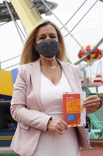 Secretária Vanessa Mendonça destaca a Rota da Diversão. Foto: Arquivo/Setur-DF.