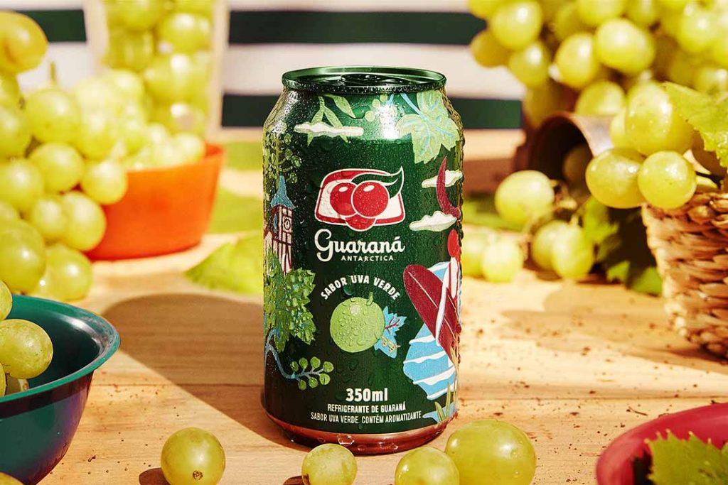 Guaraná sabor Uva Verde. Foto: Divulgação