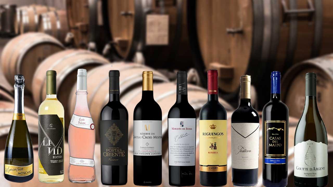 Top 10 dos vinhos abaixo de 100 reais