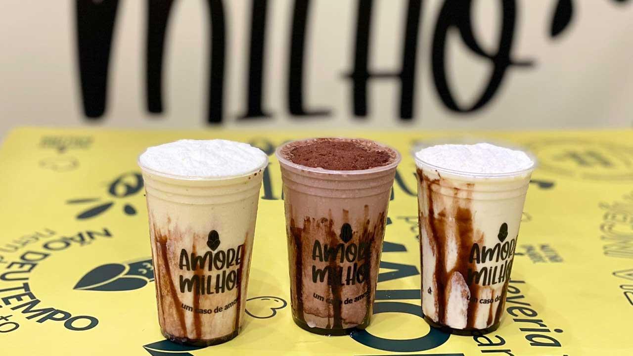 Amore Milho lança 3 sabores de milkshakes à base de milho